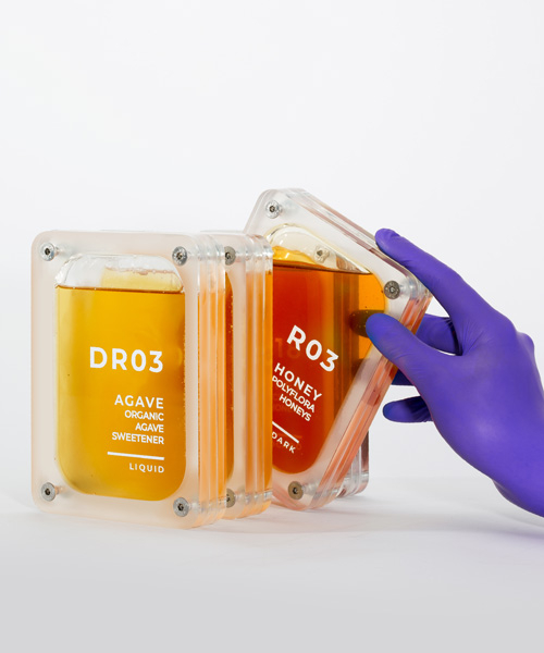 futuristic honey packaging by culdesac draws from kubrick's '2001: a space odyssey'