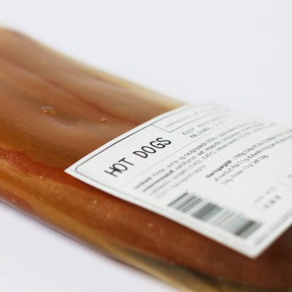 Icelandic design studio makes bioplastic meat packaging from animal byproducts