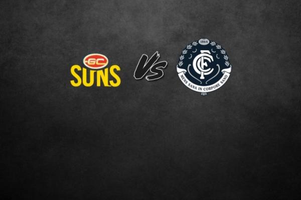 FINAL TEAMS: Gold Coast vs Carlton