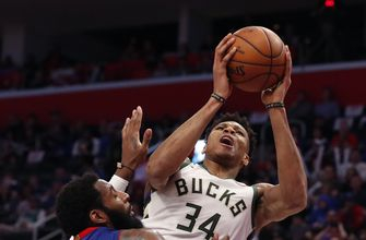 Antetokounmpo scores 41, leads Bucks to sweep of Detroit