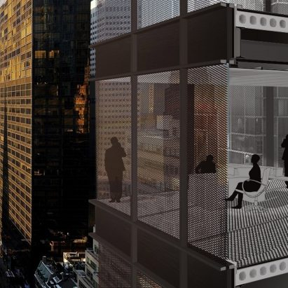 Thermobimetal shutters by Doris Sung self-regulate the temperature of buildings