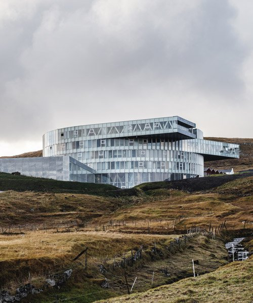 BIG nestles the 'glasir' college into the undulating landscape of the faroe islands