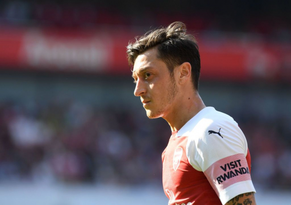 Mesut Ozil reacts to shock Crystal Palace defeat as Arsenal suffer blow in top-four race