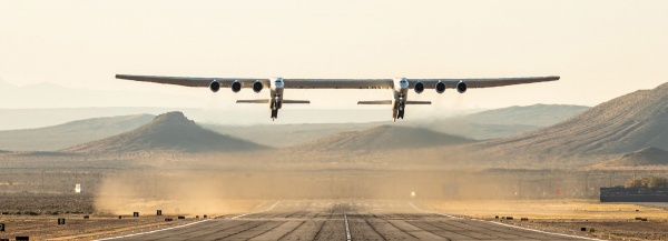 the world's biggest plane: watch the first test flight of stratolaunch