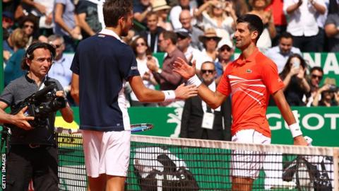 Djokovic loses to Medvedev in last eight at Monte Carlo