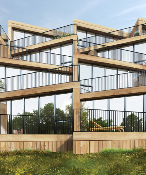 NL architects + studyo design affordable housing complex for frankfurt