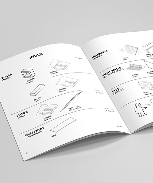 construction of brazilian ånguera house represented in language of IKEA assembly manual