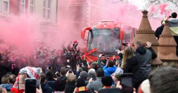 Police probe launched over flare thrown in Liverpool win