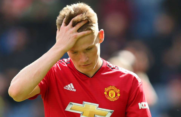 Scott McTominay was spotted sat alone in the dugout after Huddersfield 1-1 Man Utd