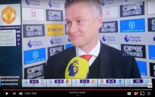 Video: Solskjaer's cheeky response to reporter after Manchester United's draw vs Huddersfield