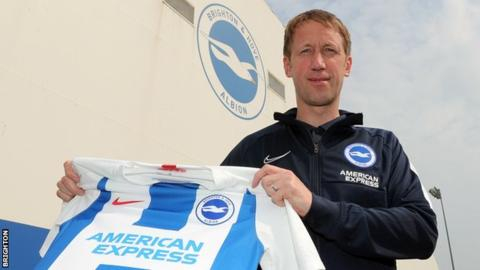 Graham Potter appointed new Brighton manager after leaving Swansea
