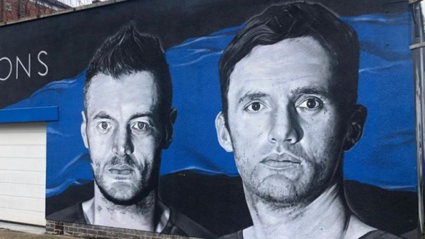 Leicester title mural painted over