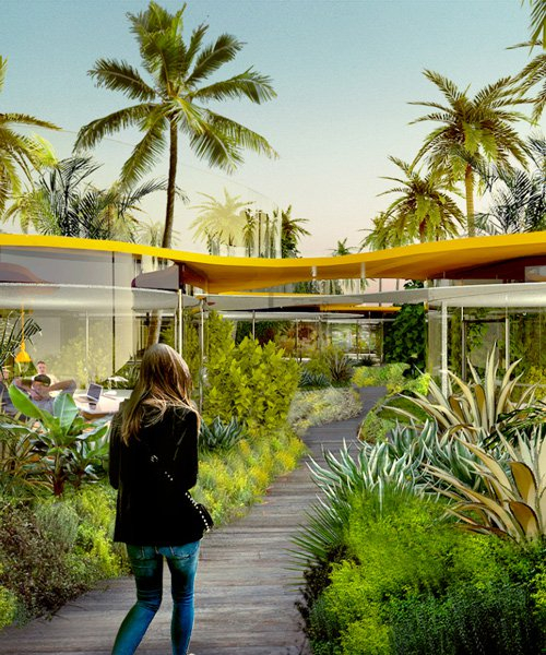 second home hollywood: selgascano designs plant-filled campus of 60 individual studios