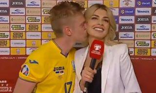 Video: Manchester City star kisses reporter during weird post-match interview