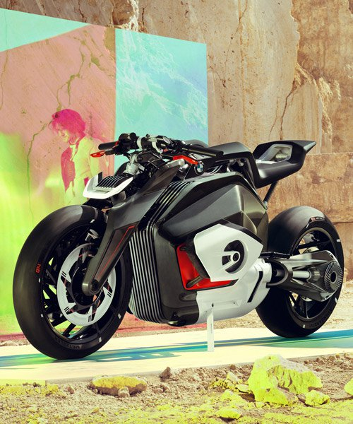 the BMW motorrad vision DC roadster is an emotional naked bike with electric drive