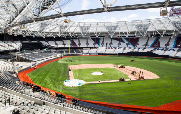 West Ham ground gets baseball makeover ahead of MLB London Series