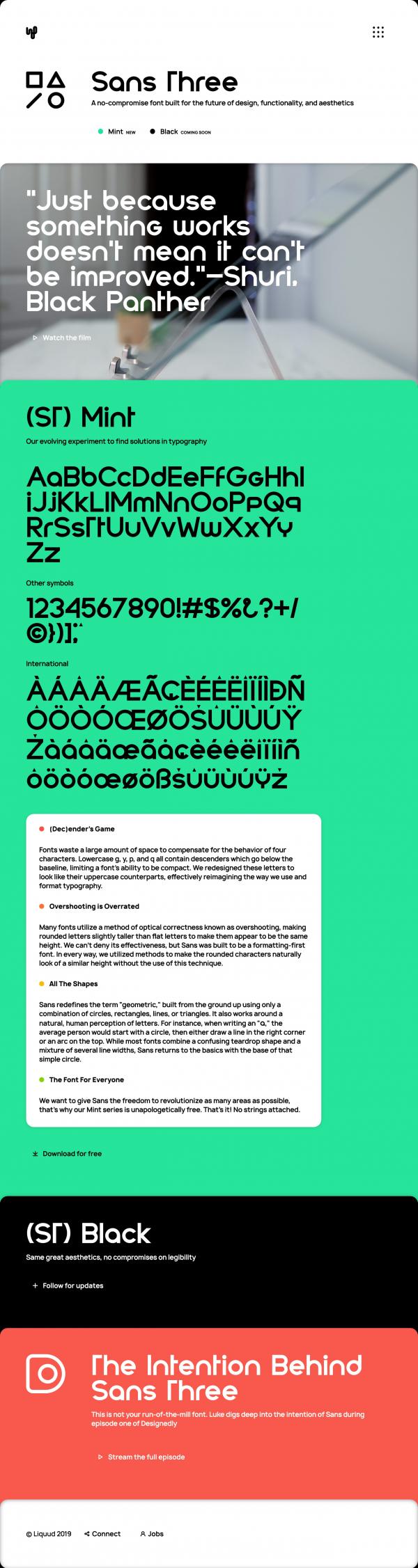 Sans Three Typeface
