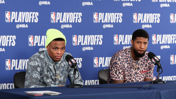 Report: Russell Westbrook didn't try to recruit Paul George back to Thunder