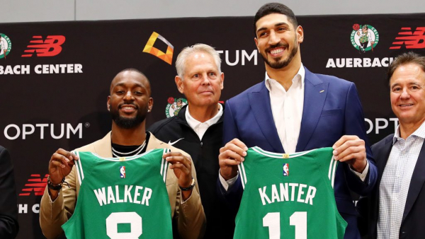 Enes Kanter trolls (jokingly) Kyrie Irving on why Kanter will wear No. 11 with Boston