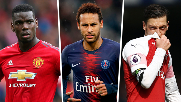 Neymar, Pogba, Ozil and 12 stars who need a transfer this summer