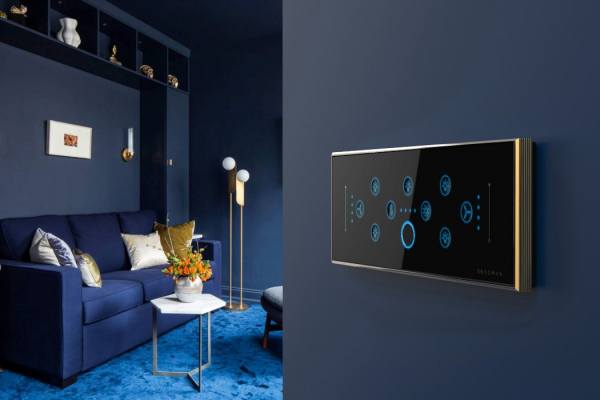 Switchboards for the rich! These high-end switches come with fingerprint sensors