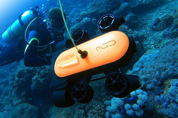 Discover unparalleled views with the deepest underwater drone diving at 150m (492ft)