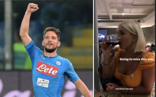 Photo: Dries Mertens shows off wife Kat Kerkhofs as he jokes about her breasts in cheeky Instagram story