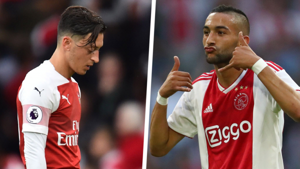 'Sell Ozil & get Ziyech for half the price!' - Arsenal ignoring Ajax chief Overmars' transfer advice
