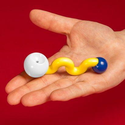 "Nikolas Bentel creates The Wiggle Pipe in ""absurd"" Memphis style"