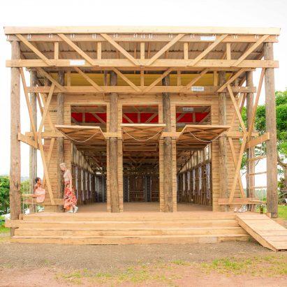 Naidi Community Hall by Caukin Studio serves as a social hub for Fijians