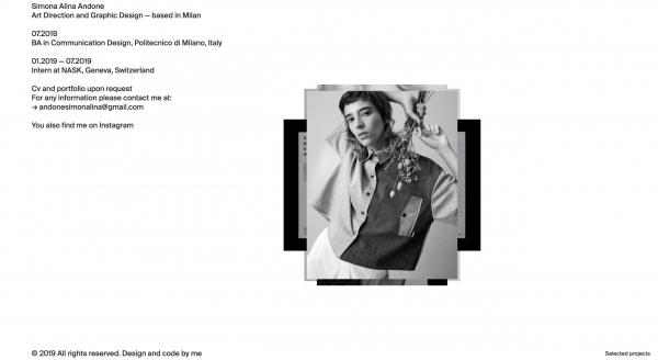 Website Inspiration: Simona Alina Andone
