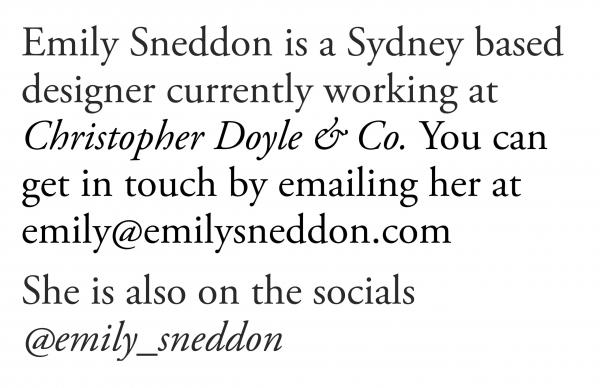 Website Inspiration: Emily Sneddon