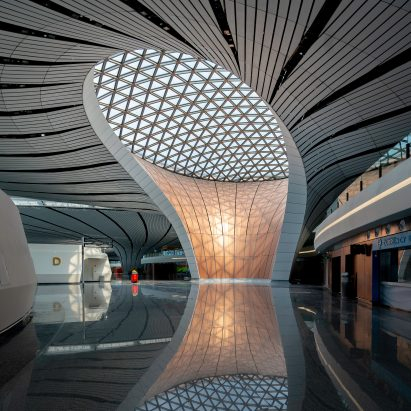 360-degree images reveal inside Zaha Hadid Architects' Beijing Daxing International Airport