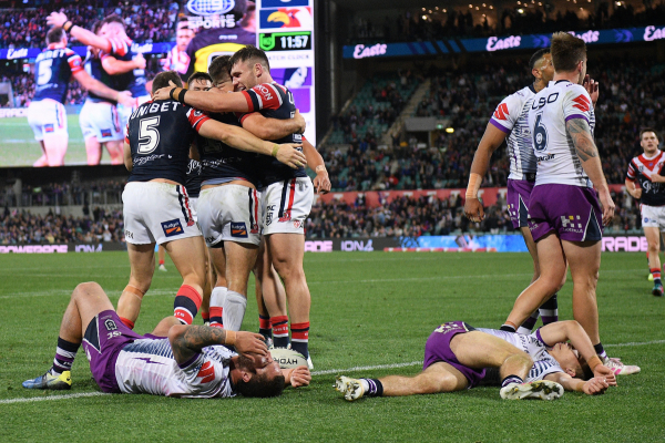 Roosters edge Storm to set up NRL grand final against Raiders