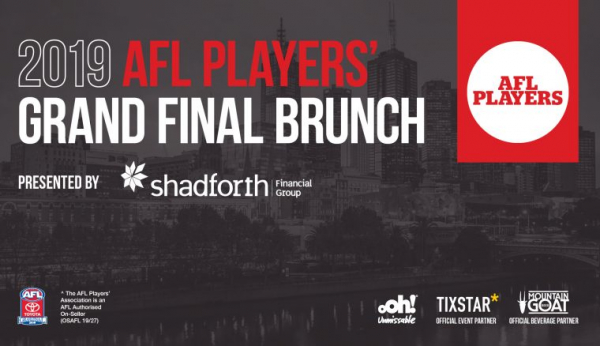 Win tickets to the 2019 AFL Players' Grand Final Brunch