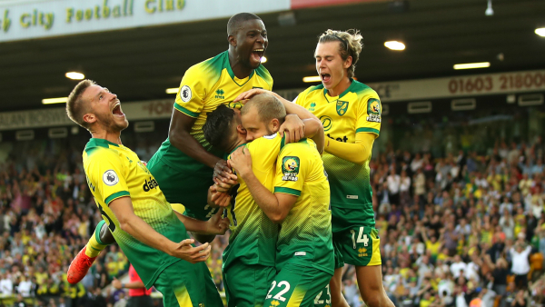 Norwich City 3-2 Manchester City: Mistakes punished as champions rocked at Carrow Road