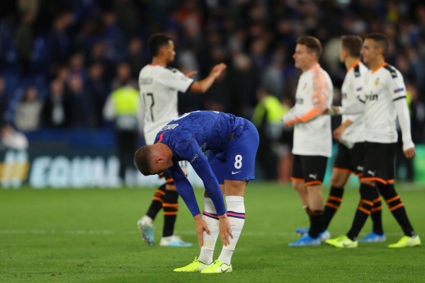 Chelsea 0-1 Valencia: Ross Barkley misses penalty as Blues lose at home in Europe for first time in three years