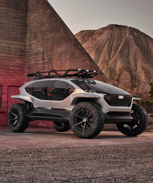 audi unveils futuristic off-road buggy with drones instead of headlights