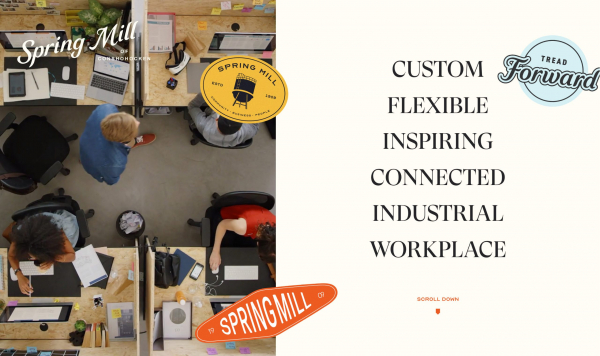 Website Inspiration: Spring Mill Creative Campus