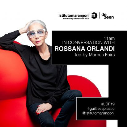Watch our talk with Rossana Orlandi live from Istituto Marangoni London