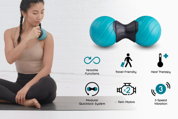 The YOGGI Ball fits your post-workout therapy into one single portable device