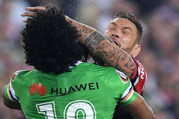 Roosters sneak past Raiders to win successive premierships in controversial fashion