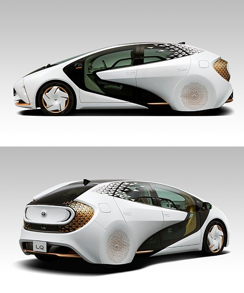 the toyota LQ features an air-purifying layer that reduces ozone emissions