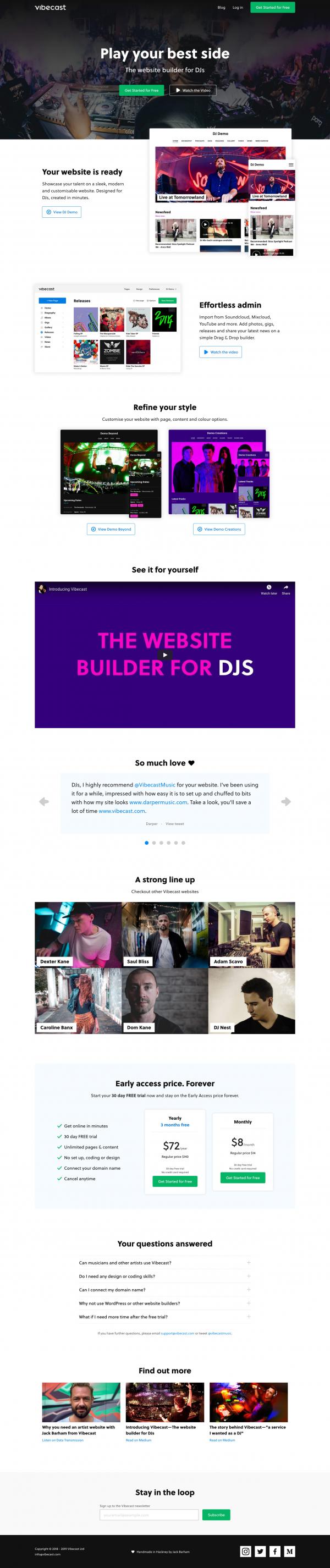Website Inspiration: Vibecast