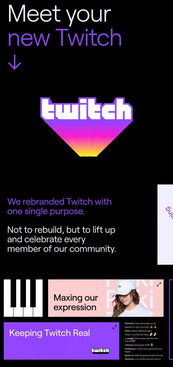 Website Inspiration: Meet the new Twitch
