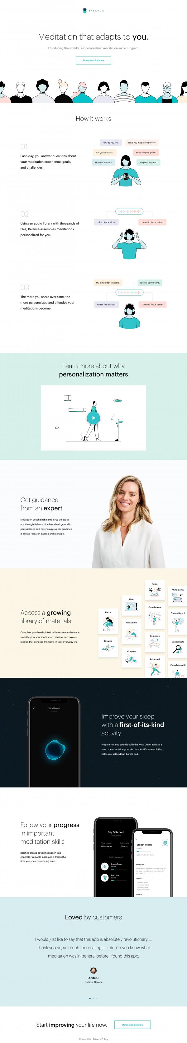 Website Inspiration: Balance