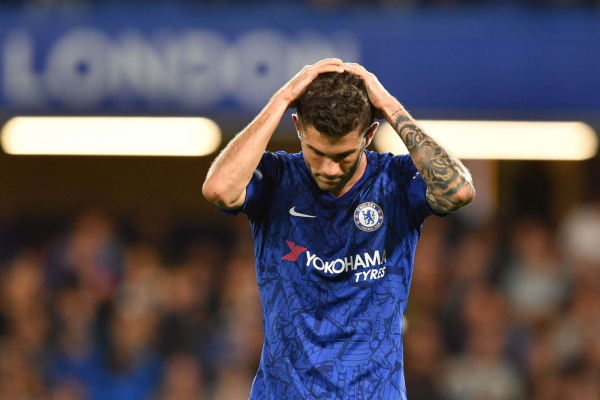 Chelsea winger Christian Pulisic breaks down in tears after being subbed off playing for USA
