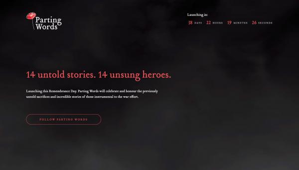 Website Inspiration: Parting Words