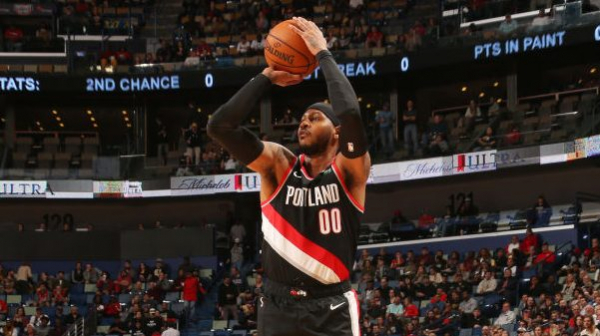 New Orleans spoils Carmelo Anthony's Portland debut in 115-104 Pelicans win