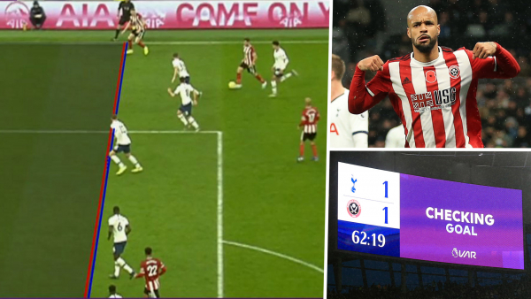 'VAR needs to die a slow death' - Fans outraged as Sheffield United have goal controversially ruled out at Spurs